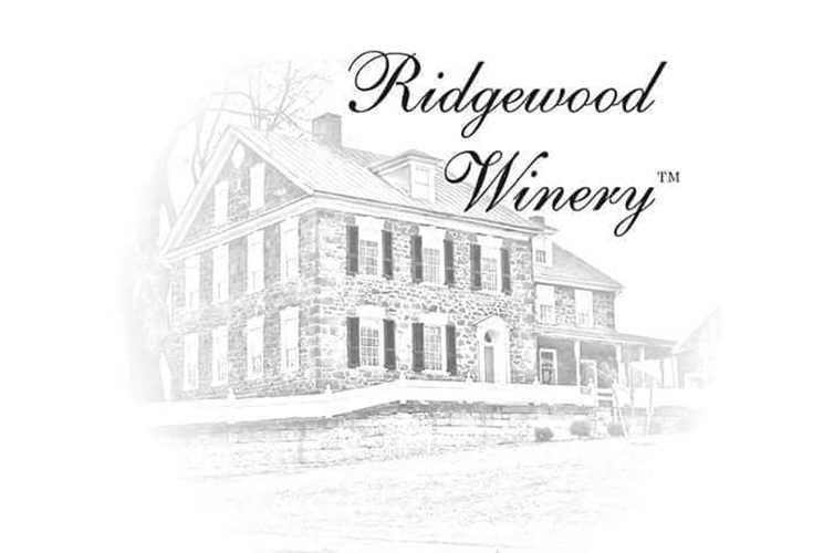 A pencil drawing of the Stone House at Ridgewood Winery