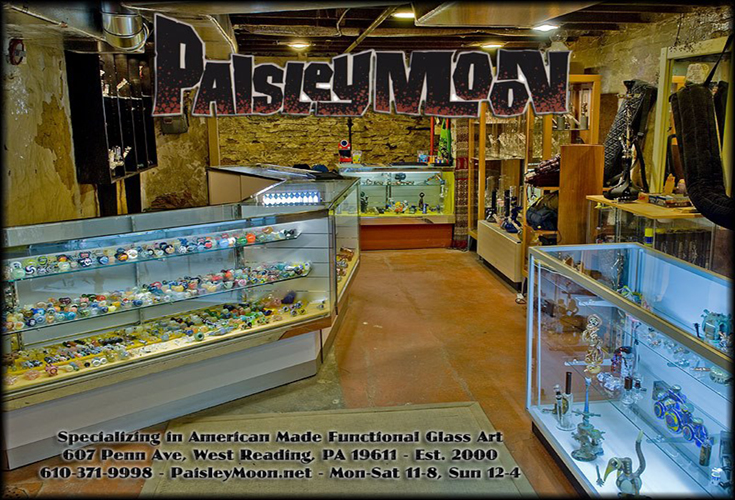 Inside view of the Paisley Moon Store