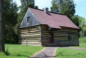 Bertolet Log Cabin at the Daniel Boone Homestead