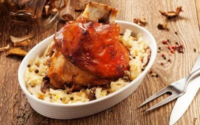 Succulent and savory, pork and saurkraut welcomes the New Year