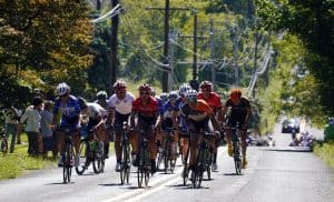 Cyclists in Reading 120 Pro Bicycle Race, Pennsylvania's Americana Region