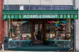 Front view of storefront Adams & Bright in Hamburg PA