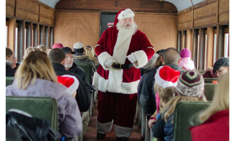 Santa on the Allentown and Auburn Train