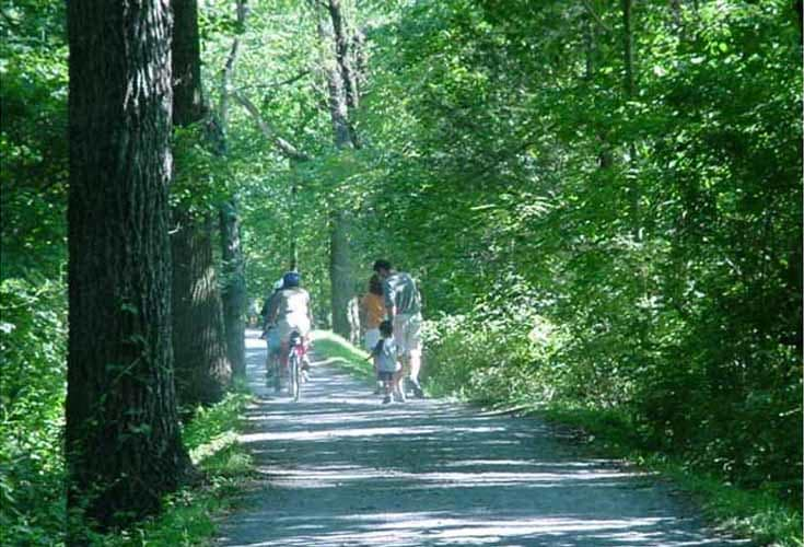 Riders and Walkers on one of the Many Berks County Trails