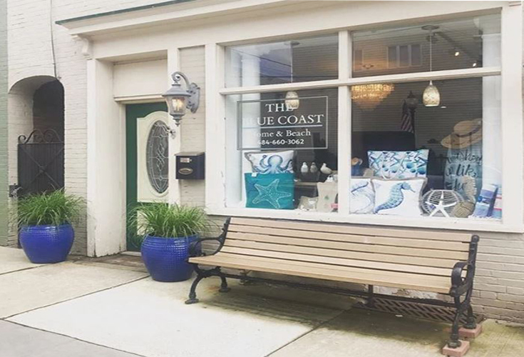 Street view of the Blue Coast Shop in Hamburg, PA