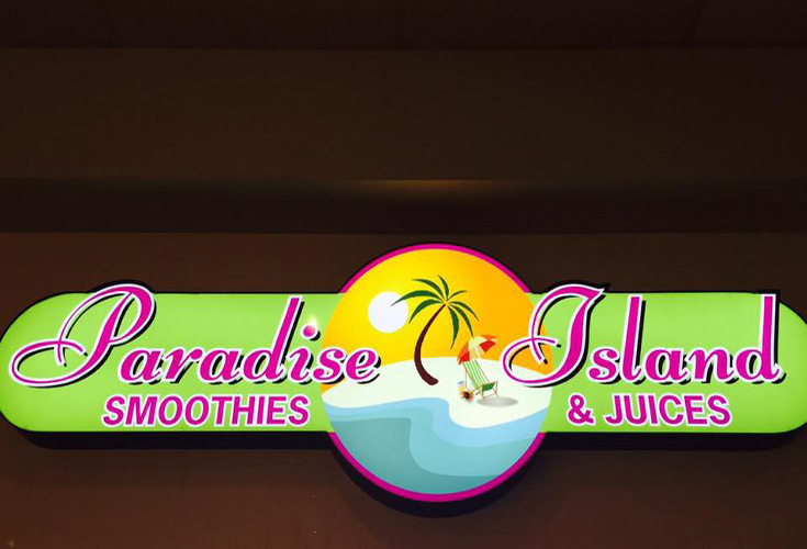 Logo for Paradise Island Smoothie Cafe